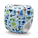 Baby Grow Waterproof Reusable Adjustable Diaper One Size Nappy 0-24 months (Transport Print)
