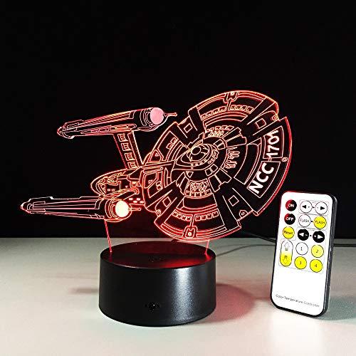 Mddjj Control Remoto Táctil 3D Led Lámpara 5V Luz Usb 7 Colores Cambiar Lava Lámpara Regalo De La Novedad Para Los Niños… 2