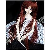 Tita-Doremi Ball-jointed Doll BJD Perücke Puppen Haarteil Für 1/4 7-8 inch Mini Dollfie SD10 MDD MSD Volks AOD Minifee DOD LUTS DZ Doll Orange Wig Hair 1/4 7-8 inch 18-19cm (Perücke Nur,Keine Puppe )