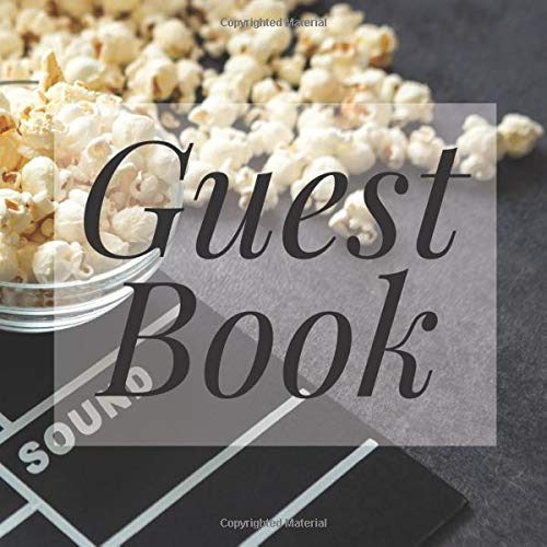 Movie Hollywood Film - Signing Guestbook Gift Log Photo Space Book for Birthday Party Celebration Anniversary Baby Bridal Shower ... Keepsake to Write Special Memories In ()