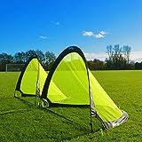 FORZA Flash Pop-Up Football Goals [Pair] (2.5ft, 4ft or 6ft) - The BEST Pop-Up Football Goal For Instant Fun [Net World Sports]
