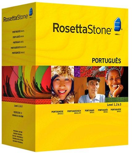 Rosetta Stone Version 3: Portugiesisch (Brasilien) Stufe 1,2&3 Set Persönliche Edition inkl. Audio Companion