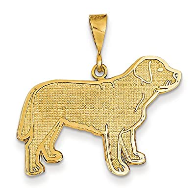 14ct Gold Labrador Dog Pendant