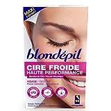 Blondepil' HAUTE PERFORMANCE - 40 Bandes Cire Froide pour Visage + 6 Lingettes Post Epilation
