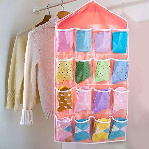 Absales 16 Pockets Clear Over Door Hanging Storage Bag Shoe Rack Hanger Storage Tidy Organize