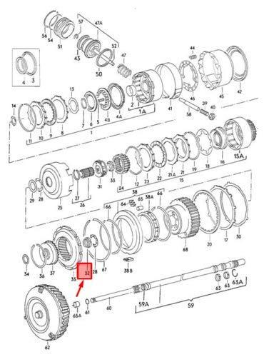 100 C3 Quantum NOS Dasher 010323339D - Rodamiento