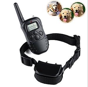 Collier de dressage électrique pour chien étanche et rechargeable Petainer Portee 300M,Pour 1 Chien