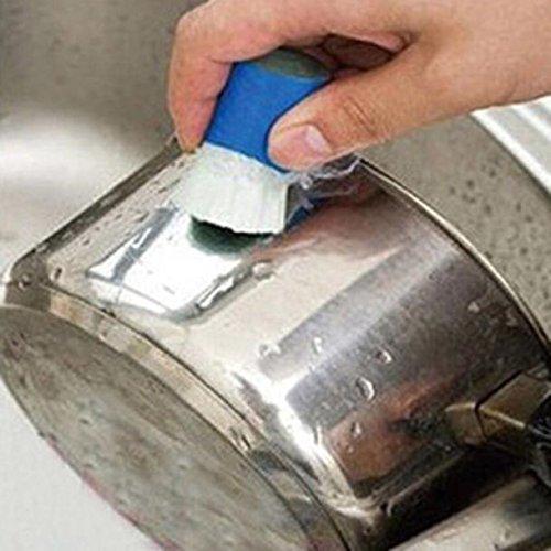 Loxmy Reinigungswerkzeug, 1 STÜCK Edelstahl Rod Magic Stick Rostlöser Reinigung Waschbürste Wischen Topf Multifunktionswaschbürsten für Auto/Tür/Wand/Boden/Küche/Bad (zufällig)