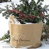 Videx-Winterschutz Jute-Übertopf Merry Christmas, H: 35cm, B: 38cm