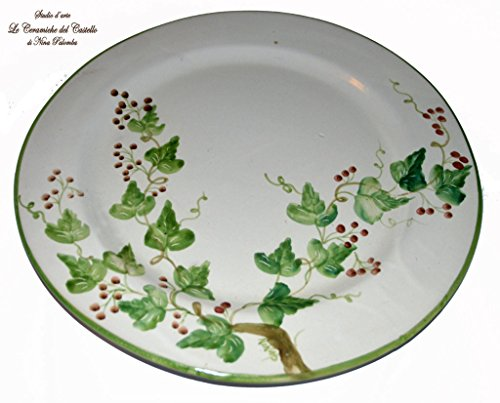 set-servizio-dolce-1-piatto-dolce-6-piattini-linea-edere-ceramica-handmade-le-ceramiche-del-castello