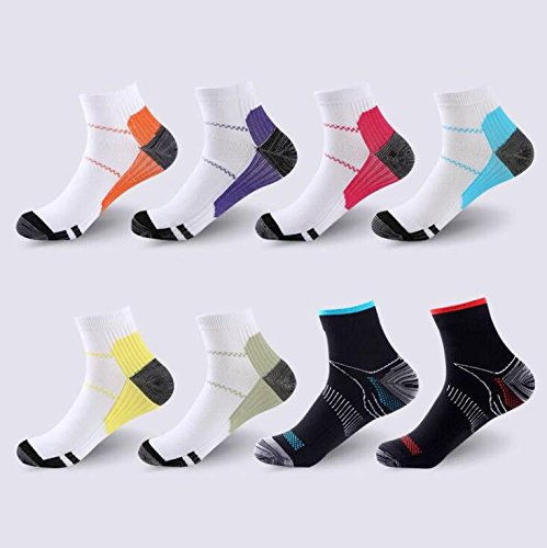 Alamor 3-pack Plantar Fascia Compression Socks Sports Men And Women Socks Basketball Mountaineering Comfort Breathable Health Variety Of Colors Style