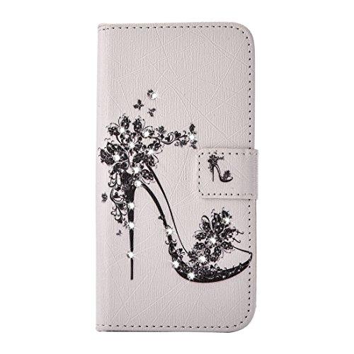 Hülle für iPhone 7 plus , Schutzhülle Für iPhone 7 Plus Fireworks Pattern Diamond verkrustet Horizontale Flip Leder Tasche mit magnetischen Wölbung Halter & Card Slots & Wallet ,hülle für iPhone 7 plu IP7P2271E