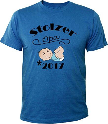 Mister Merchandise Herren Men T-Shirt Stolzer Opa - 2017 Tee Shirt bedruckt Royal