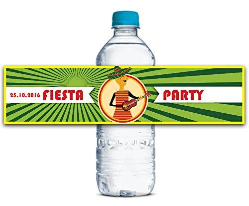 Personalisierte Wasserflasche Etiketten Selbstklebende wasserdichte Benutzerdefinierte Fiesta-Party-Aufkleber 8