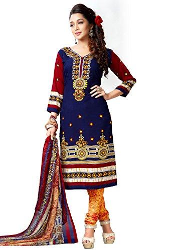 Kanchnar Women'S Crepe Un-Stitched Plain Daily Wear Salwar Kameez Suit For Women's...