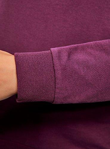 oodji Ultra Damen Baumwoll-Sweatshirt (2er-Pack) Violett (8300N)