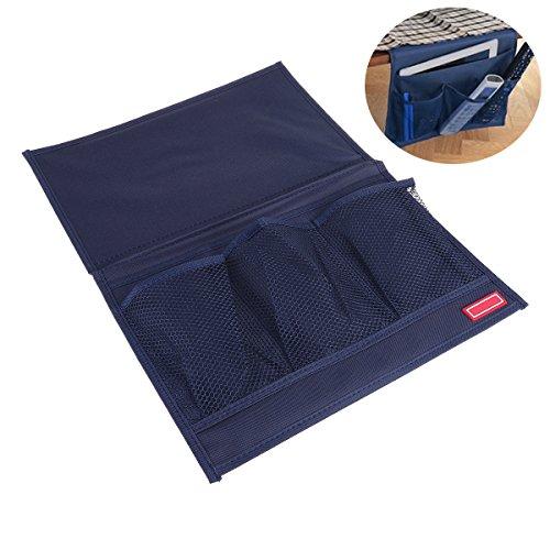 Ounona organizzatore portaoggetti da divano letto per cellulare telecomandi e oggetti con 4 tasche in blu scuro