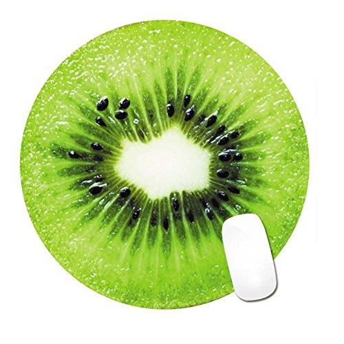 Interessante Kiwi-runde wasserdichte Spiel-Büro-Mausunterlage rutschfeste Gummibasis stellte von 2 ein