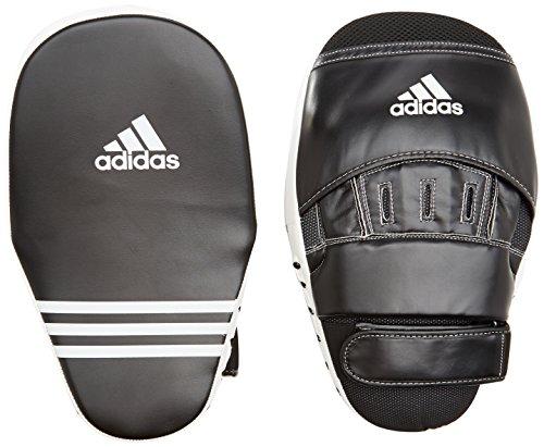 adidas Training Curved Focus Mitts Long Pratze, Schwarz/Weiß, One Size