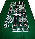Dark GREEN Roulette Casino Cloth - Layout - Baize Free P+P - Vivid Colours