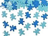 PartyDeco Confetti Decorativi Orsetti, Blu/Azzurro, 15 gr