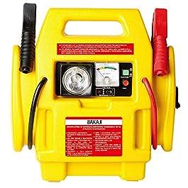 BAKAJI Jump Starter 300 Amp Caricabatterie Stazione di Energia con Compressore Aria e Luce di Emergenza Avviatore di…