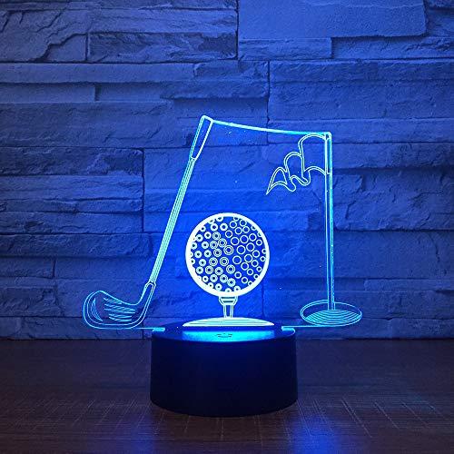 Golf Clubs 3d Visuelle Tischlampe Acryl Nachtlicht Led 7 Farbwechsel Leuchte Schlafzimmer Büro Decor Für Geschäftsmann Geschenk