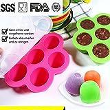Silikon Babynahrung Aufbewahrung, Shsyue Einfrieren Babybrei / Food Storage / Eismaschine / Gefrierschrank Behälter 350ml (Rosa rot)