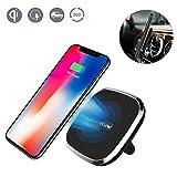 Cargador de coche inalámbrico, Nillkin 2 en 1 Qi almohadilla de carga inalámbrica y soporte magnético de montaje en el aire para iPhone X / 8/8 Plus Nota de Samsung 8 / S8 Plus / S7 / S6 Edge Note 5 y todos los dispositivos con Qi habilitados-Modelo A