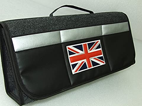 Original ONEKOOL UNION JACK FLAG Kofferraumtasche Werkzeugtasche KfZ Tasche Auto Kofferraum Organizer SCHWARZ für alle Original ONEKOOL Car Boot Tidy Organizer Fits all Models AUDI ,BMW , MERCEDES BENZ , VW , JAGUAR, MINI, FORD , HONDA, FIAT , SKODA , SEAT , KIA , PORSCHE