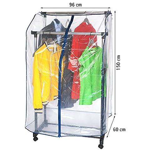 ArtMoon Anti Duster Weich Kleiderstange Abdeckung 96X60X150cm (Schutzhülle Für Kleiderständer)