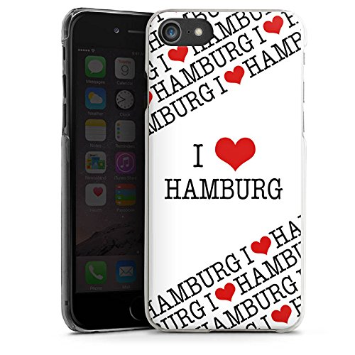 Apple iPhone X Silikon Hülle Case Schutzhülle Hamburg Herz Love Hard Case transparent