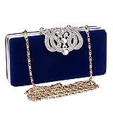 LWZY Diamant-abendtasche,Glitter evening clutches taschen,Abendessen-tasche Für frauen hochzeit und party-Blau 5x8x17cm(2x3x7inch)