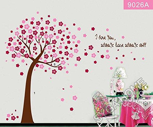 Peach coloured Autumn themed wall sticker AY9026A