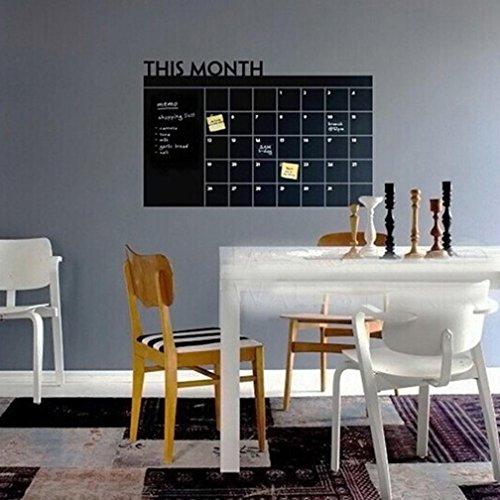 Ouneed® Wandaufkleber Wandtattoo Wandsticker , 60x92 Monats Plan Kalender Tafel Tafel Vinylwand Aufkleber