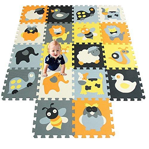 XMTMMD Schaumstoff Puzzle Matte Fruits Baby Gym Puzzle Spielmatte Kids Interlocking Soft Boden Fliesen Kinder Zimmer Play Bereich 18PCS AMP011011G301018