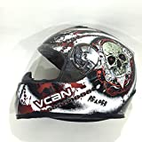 VCAN V158 Casco Moto Soul Reaper Casco Integral Moto Casco Scooter Racing (M)