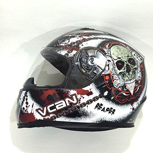 VCAN CASCO INTEGRALE MOTO DA UOMO V158 SOULD REAPER Adulti Casco Moto Sportivi Racing Scooter ECE Approvato Full Face Touring Caschi integrali (M)