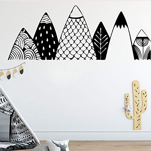 nalität Wandaufkleber Moderne Mode Wandaufkleber Für Kinderzimmer Kinderzimmer Dekor Home Party Decor Tapete Schwarz XL 60 cm X 172 cm ()