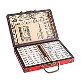 Lim Chinois riichi Mahjong Set 144 tuiles (Mahjongg Set, Mah-Jongg, Mah Jongg Ensemble, Majiang)(Size: M)