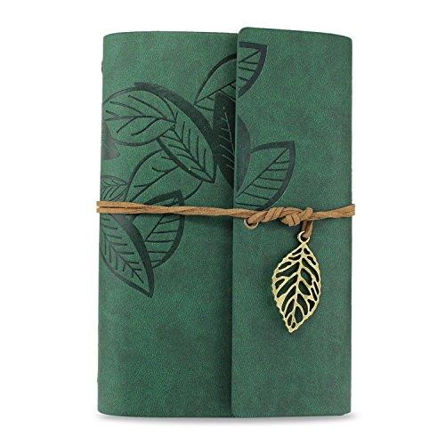Ya Jin Vintage Leder Journal Notizbuch, klassische Geprägte Loose Leaf Tagebuch mit blanko Seiten...