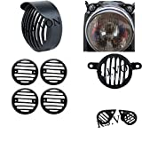 #10: R.J.VON Rear Customized Head Light Heavy Grill with Cap and Indicator for Royal Enfield Bullet 500 Twinspark