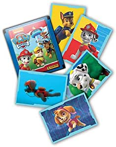 panini boite de 50 autocollants paw patrol la pat 39 patrouille jeux et jouets. Black Bedroom Furniture Sets. Home Design Ideas