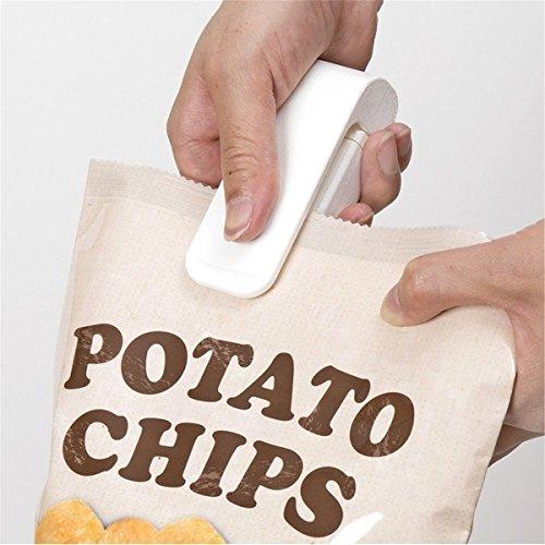 Preisvergleich Produktbild Hebbier weiß Mini-Handy-Plastic Bag Sealer, Plastik Nahrungsmittelbeutel Hand Sealer Folienschweißgerät Haushalt Mini Sealer