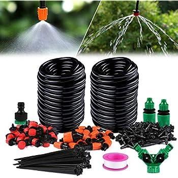 Sonnig Diy 40m Automatisch Bewässerungssystem Micro Drip Bewässerung Gartenpflanze De Garten & Terrasse