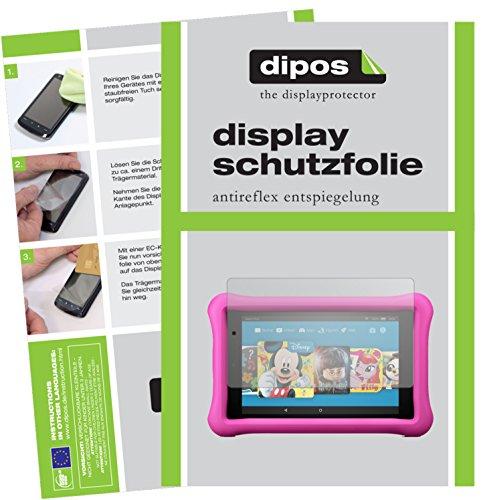 dipos I 2X Schutzfolie matt passend für Amazon Fire 7 Kids Edition (2017) Folie Displayschutzfolie