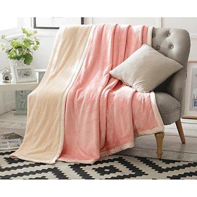 wangaima Flanell Solide Baumwolle Decken blushing pink