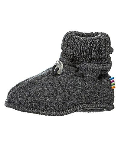Joha Babyschuhe, 100% Wolle (20-21 EU, Dunkelgrau)