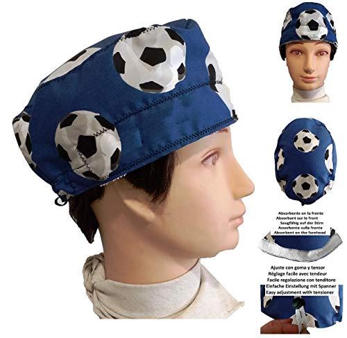Chirurgische Kappe. Mann Fußbälle für kurze Haare. Frontdämpfer und verstellbarer Spanner nach Ihren Wünschen