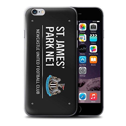 Offiziell Newcastle United FC Hülle / Case für Apple iPhone 6S / Pack 6pcs Muster / St James Park Zeichen Kollektion Schwarz/Weiß